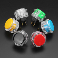 PS 24mm Black Red Yellow Blue Green White Push Button for Arcad