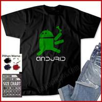 Kaos Android Andjrid Baju Distro Plesetan Keren Lucu Unik Murah Pria W