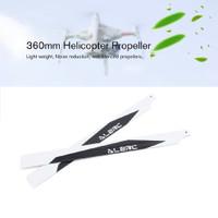 Baling Baling Helikopter RC Bahan Karbon Fiber Ukuran 360mm