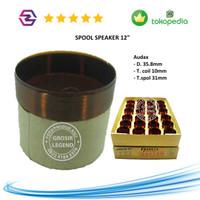 Spool voice coil spul speaker 12 inch Audax 12220 Capton