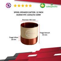 Spool voice coil spul speaker 12 inch Audax 12252/53 Capton