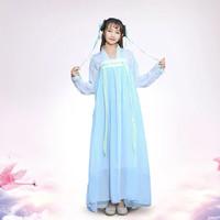 CC131 hanfu unisex wanita baju tradisional cina han yukata kimono