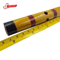 Traditional Dizi Bamboo Flute Yellow Color Size 47cm