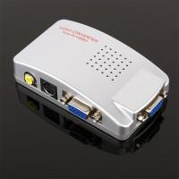 High Resolution VGA to RCA AV Video or S-Video Video Converter Video