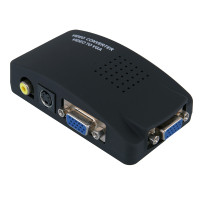Composite S-Video RCA AV In to VGA Out Video Converter Adapter High