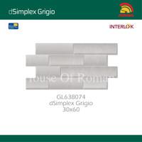 ROMAN KERAMIK Interlok dSimplex Grigio 30x60 GL638074 (House of Roman)