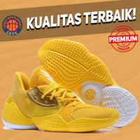 Sepatu Basket Sneakers Adidas Harden 4 Yellow White Pria Wanita