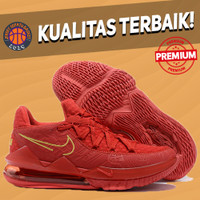 Sepatu Basket Sneakers Nike Lebron 17 Low Titan Red Merah Pria