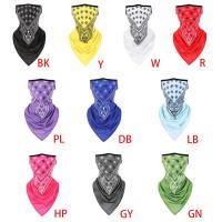 BLA Unisex Seamless Bandana Face Mask Paisley Floral Ear Loops