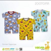 Romper Junior Zootopia Kodok Baju Empat Velvet Segi