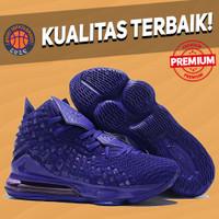 Sepatu Basket Sneakers Nike Lebron 17 High 2K Gamer Purple Pria Import