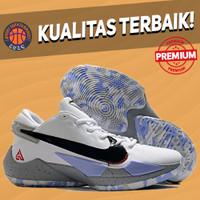 Sepatu Basket Sneakers Nike Greek Zoom Freak 2 White Cement Grey Black