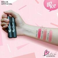 nude lipbalm pelembab pink LIP ICE BELIA Color lipice baby red Lip bib