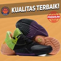 Sepatu Basket Sneakers Adidas Harden 4 Black Green Orange Pria Wanita