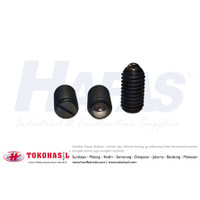 Slotted Spring Ball Plunger set screw M4x9, M4 x 9 - P0.70