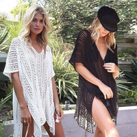 ES814 Lucy Boho Top - European Style Beach Blouse - Batwing Outer