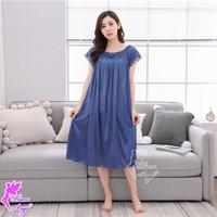 JJ629 Daster Baju Tidur Wanita Satin Jumbo Big Size Sexy Sleepwear