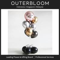 Balon box surprise -Orbz Chrome Balloon Bouquet