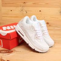 Sepatu Wanita Nike Air Max 90 White Blue Tint Miror Quality BNIB