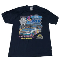 Miami 400 Dave Blaney Nascar T Shirt Mens L 2006 White Graphic Tee