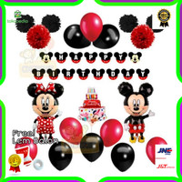 Paket Dekorasi Balon Ulang Tahun / Happy Birthday Tema Mickey Mouse 02