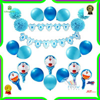 Paket Dekorasi Hiasan Balon Ulang Tahun / Happy Birthday Doraemon 02
