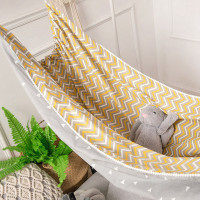 Hammock/tempat Tidur Gantung Bahan Katun Motif n Untuk Bayi/anak
