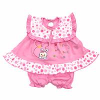Baju Setelan Dress Bayi Perempuan Kaos 3-6 Bulan Bordir Cute Bunny