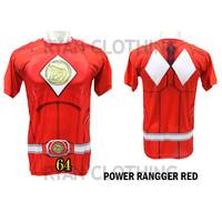 Baju Power Ranger Red Anak Kaos Anime Full Printing 3D #FPS-64