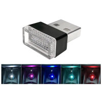 Lampu LED USB Dekorasi Aksesoris Interior Mobil