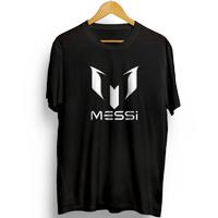 T-Shirt Baju Kaos Pria Messi Bola Bacelona Cotton Combed 30s Premium