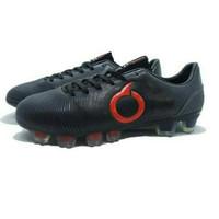 Sepatu Bola Ortuseight Catalyst Oracle FG Black Dark Grey Red Limited