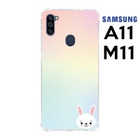 Casing Samsung Galaxy A11 dan M11 Softcase Anticrack Kelinci Lucu 17