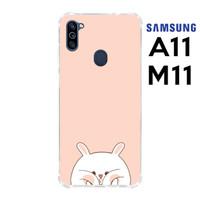Casing Samsung Galaxy A11 dan M11 Softcase Anticrack Kelinci Lucu 18