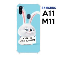 Casing Samsung Galaxy A11 dan M11 Softcase Anticrack Kelinci Lucu 16