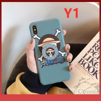 Cartoon Anime One Piece Case With Popsocket for Vivo Y17
