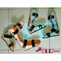 sepatu koreksi ortopedi AFO terapi kaki jinjit datar flat foot X