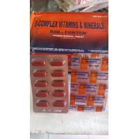B 50 Forten..vitamin mineral ayam pisau obat impor philipin