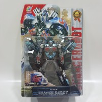 Mainan Robot-Robotan Optimus Prime Silver Metalik Transformable Robo