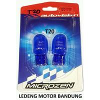 mrh T20 Autovision Microzen Blue Lampu Bohlam Sen Senja Mobil 12V 21W