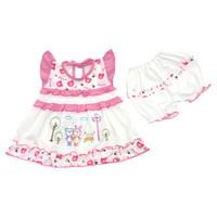 Baju Setelan Dress Bayi Perempuan Katun 3-6 Bulan Couple Bear at Park