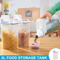 Kotak Dispenser Sereal Nasi Makanan Bahan Plastik PP Gaya Korea unt 7h