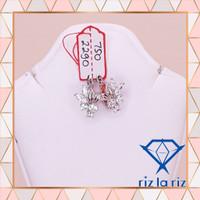 Anting Model Klep Bunga Batu Emas Putih AN750229000