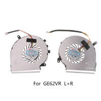 1 Pasang Kipas Pendingin 4 Pin Untuk Msi Ge62Vr Gp62Mvr Gl62M Laptop