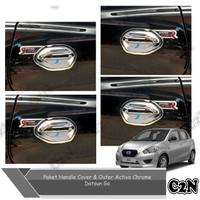 Paket Handle Cover Outer Chrome Model Activo Mobil Datsun Go