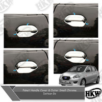Paket Handle Cover Outer Chrome Model Small Mobil Datsun Go