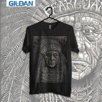 Pearl Jam Indian Father Kaos Band Original Gildan
