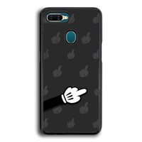 Hardcase Casing Oppo A7 Bad Finger Mickey Mouse P2171