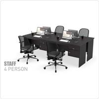Meja Tulis Kerja Staff Kantor Workstation 4 Orang ukuran 120 x 60