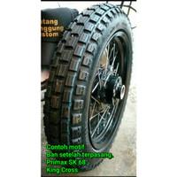 BAN MOTOR RING 17 UKURAN 250 BUKAN TUBLES PRIMAX SK 68 KING CROSS,